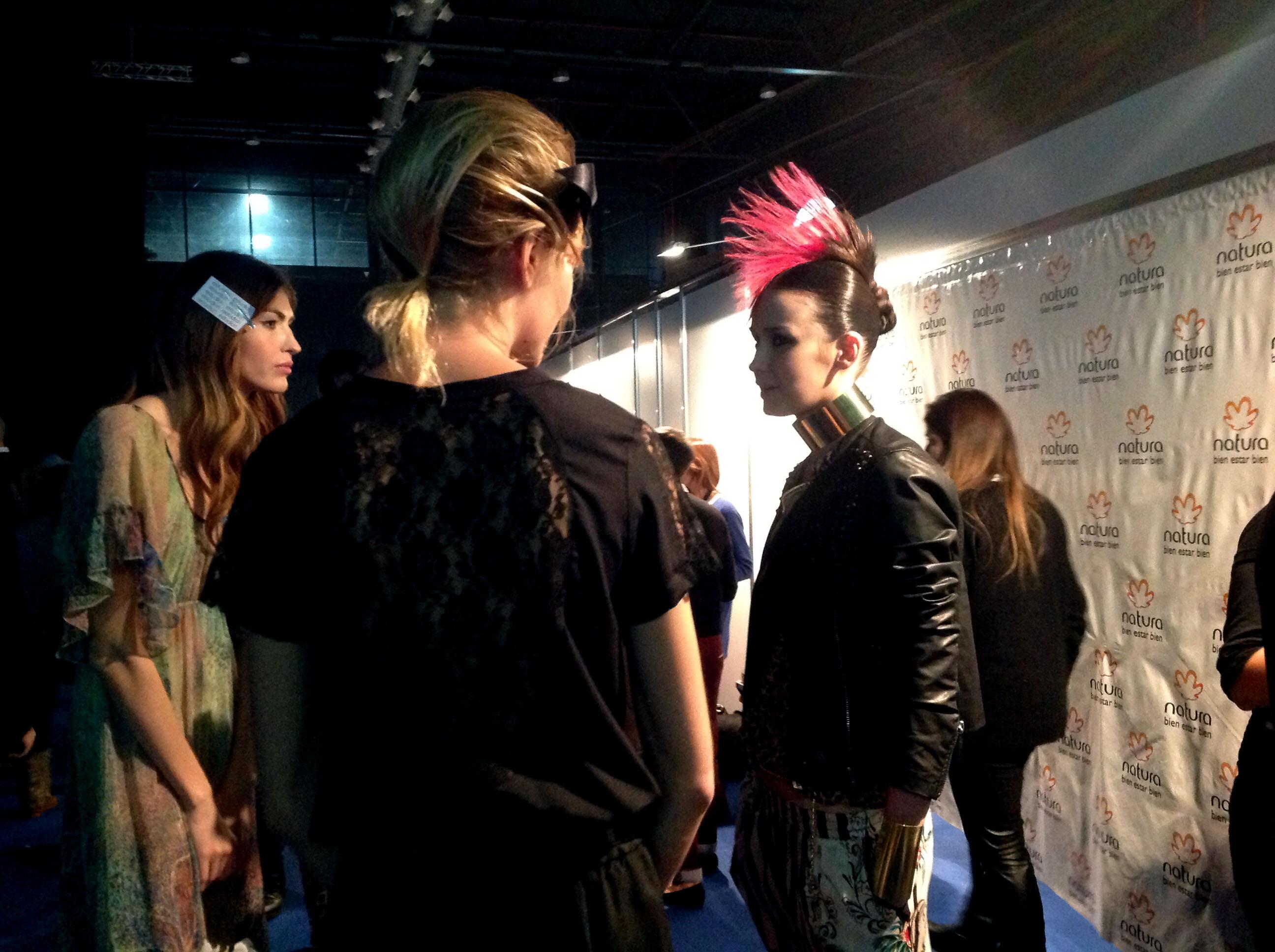 peinados punk Falabella Editorial Fashion Show en BAFWeek