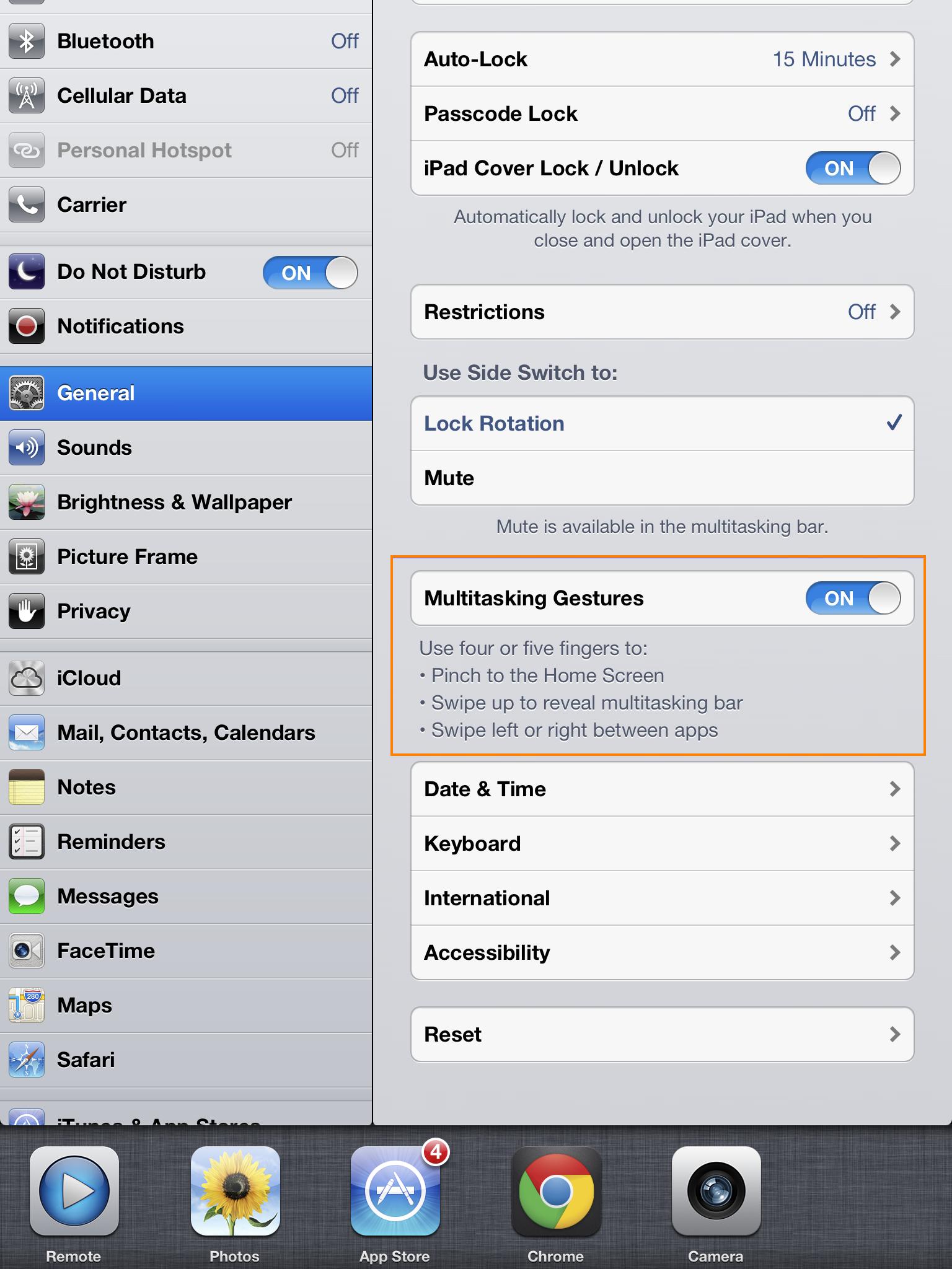 Gestos para multitarea (iPad)