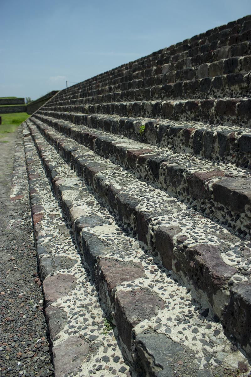 Escalones de Teotihuacá