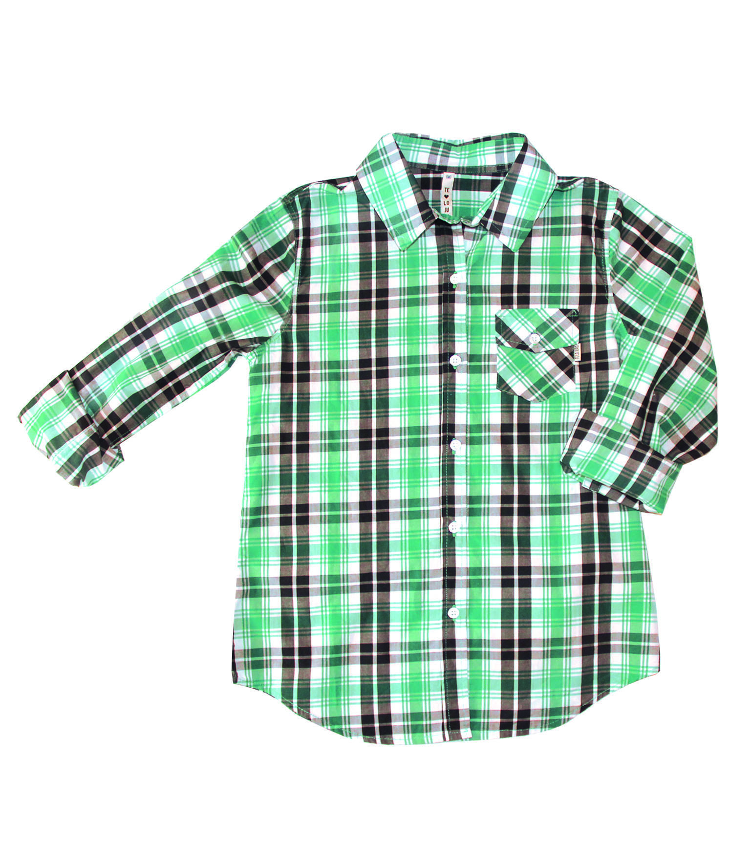 TE LO JURO  4291 camisa escocesa creme delantero.jpg $640