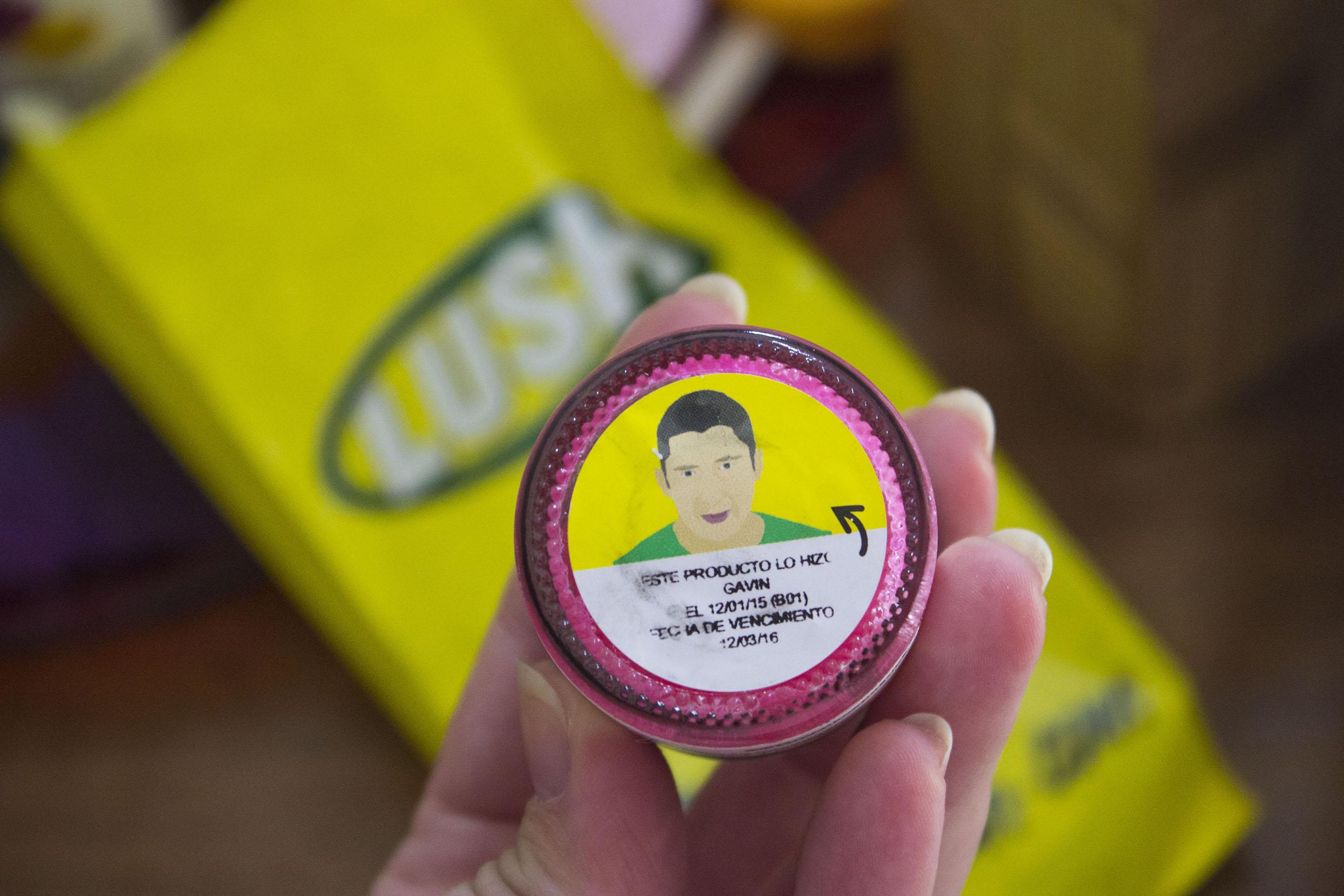 Exfoliante de labios de Lush en Jaia