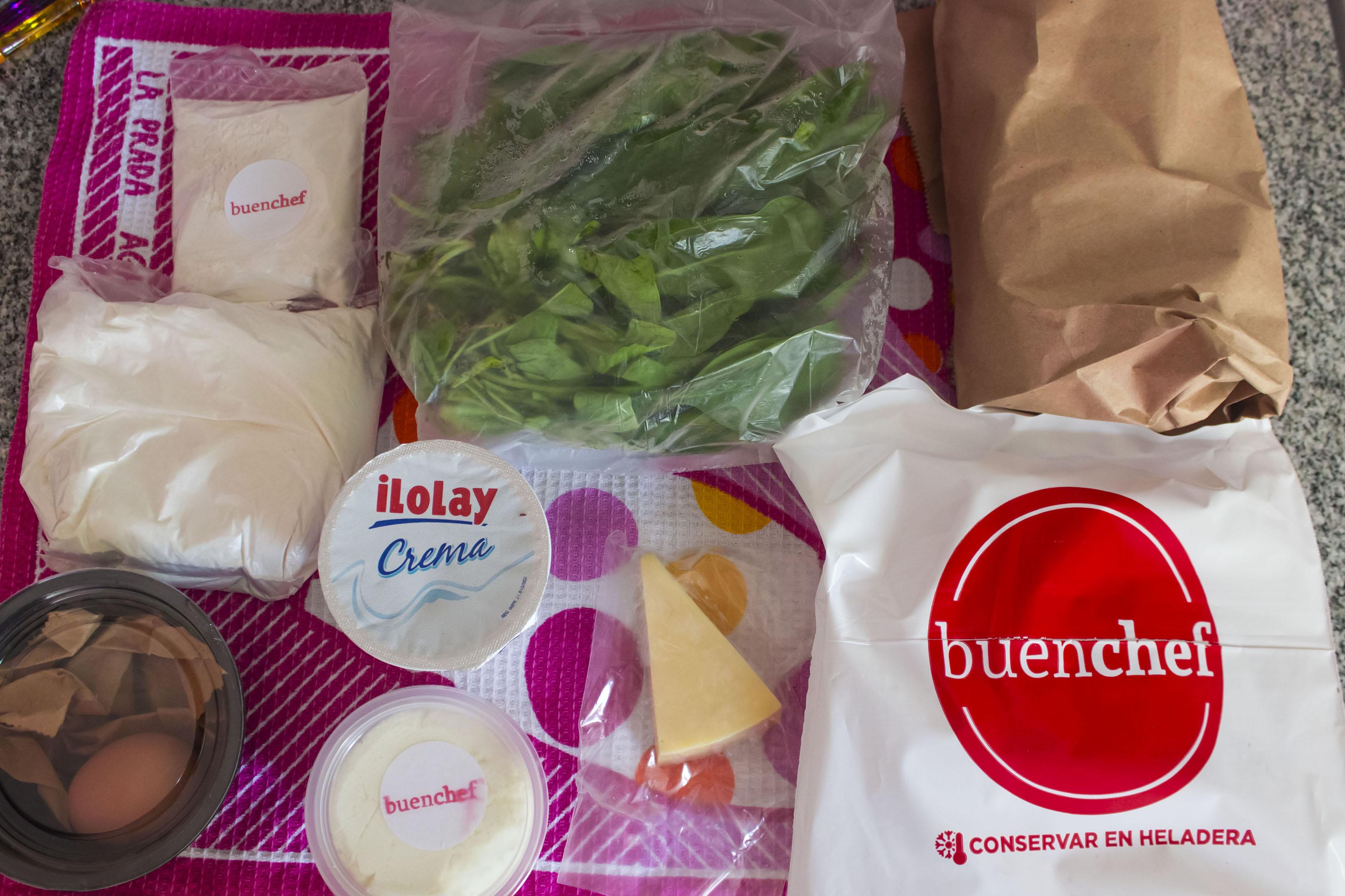 Los ingredientes crudos para los Malfatti - Buen Chef