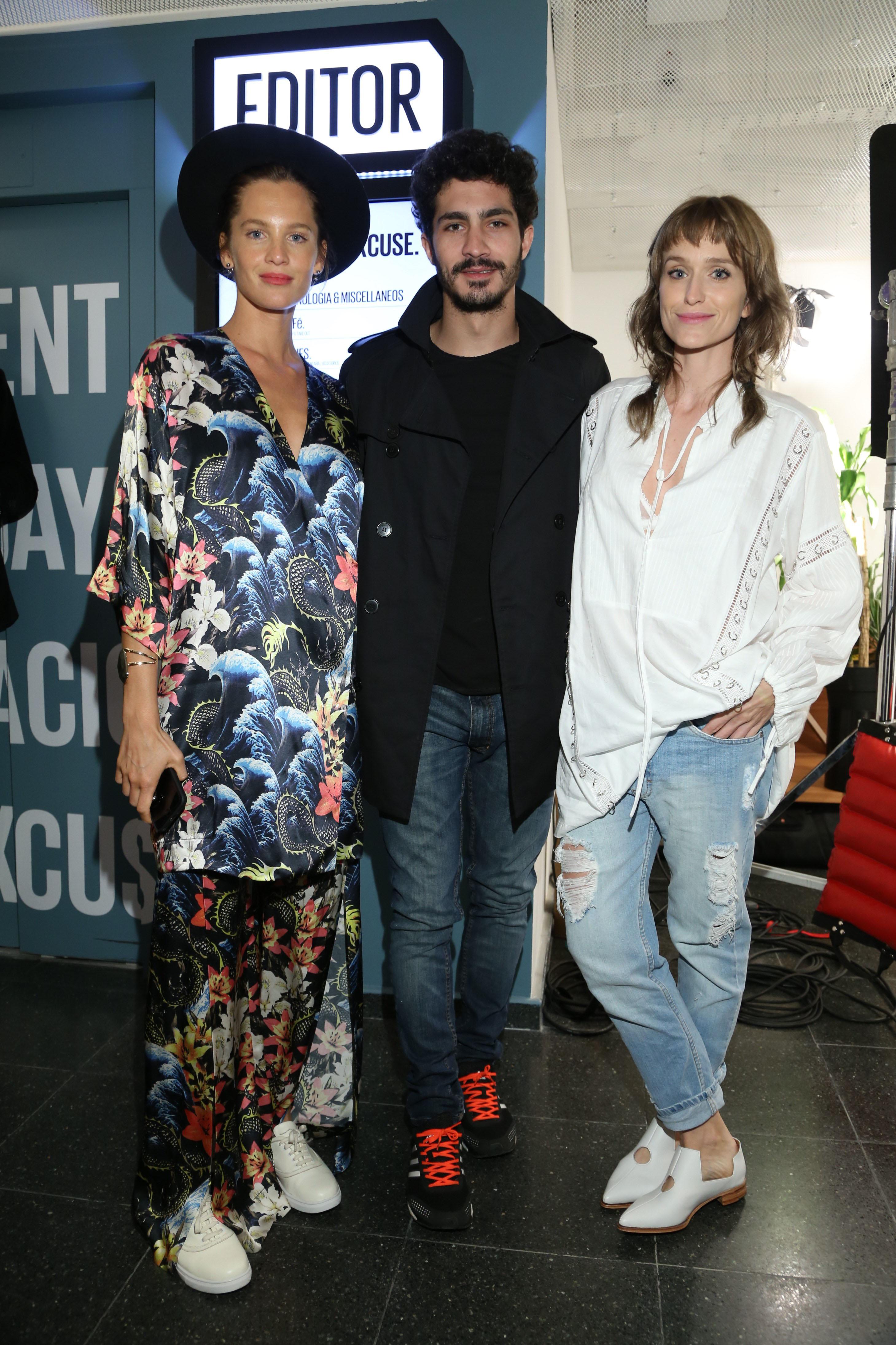 Liz Solari, Chino Darin y Brenda Gandini en el lanzamiento de Editor Market