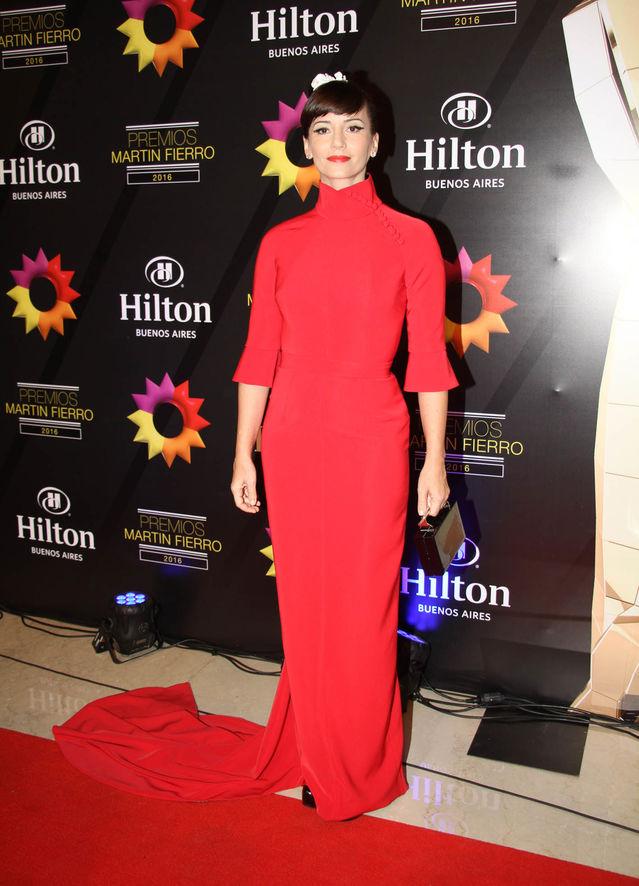 Griselda Siciliani con un Pablo Ramirez en rojo espectacular