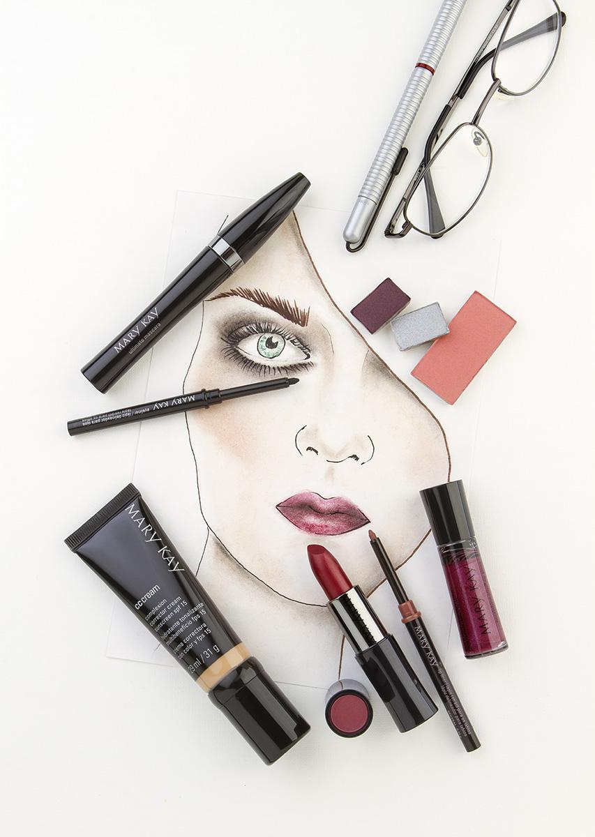 Maquillaje labios berry