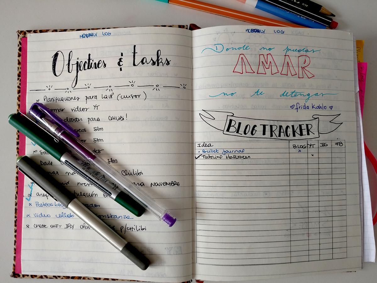 Otra forma de trackear el blog, objetivos y tareas.
